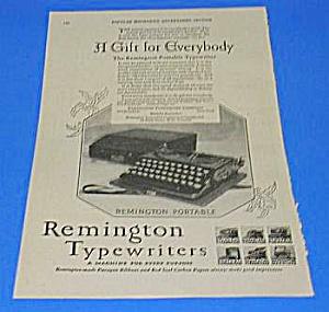 1926 Remington Portable Typewriter Ad
