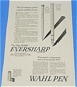 1925 WAHL Fountain Pen/Pencil Ad - Cool! (Image1)
