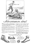 Click here to enlarge image and see more about item 26KEDSB: 1926 KEDS Sneakers Magazine Ad L@@K!