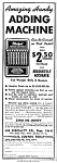 Click here to enlarge image and see more about item AD0122A7: 1945 Hand ADDING MACHINE - Calculator Magazine Ad