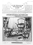 Click here to enlarge image and see more about item AD0216AA4: UNUSUAL 1926 LE BRUN Silver Tea Set Ad
