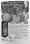 Click here to enlarge image and see more about item AD0216AA8: 1927 SANTA FE Illinois Pocket Watch Ad