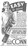 Click here to enlarge image and see more about item AD0311A3: 1938 CONN SAXOPHONE Music Room Ad