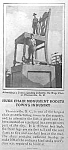1927 THOMASVILLE, NC Giant Chair Mag. Article