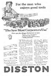 Click here to enlarge image and see more about item AD0330AA1: 1925 DISSTON Saw - Tool Ad