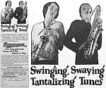 Click here to enlarge image and see more about item AD0412A1: 1927 SAXOPHONE Music Room Ad