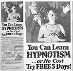 Click here to enlarge image and see more about item AD0412A6: 1929 LEARN HYPNOSIS You Are in My Power AD!