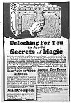 Click here to enlarge image and see more about item AD0504A2: 1927 LEARN MAGIC Ad - L@@K!