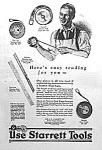 Click here to enlarge image and see more about item AD0509A4: 1927 STARRETT TOOL Ad L@@K!