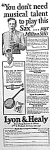 Click here to enlarge image and see more about item AD0509A8: 1927 SAXOPHONE Music Room Ad