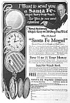 Click here to enlarge image and see more about item AD0513B8: 1927 SANTA FE MOGUL Pocket Watch Ad