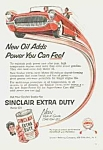 Click here to enlarge image and see more about item AD0524CC4: 1955 SINCLAIR AUTO OIL Ad