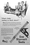 Click here to enlarge image and see more about item AD0527A3: 1924 STARRETT TOOL Ad L@@K!