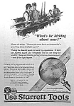 Click here to enlarge image and see more about item AD0527A6: 1924 STARRETT TOOL Ad L@@K!