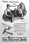 Click here to enlarge image and see more about item AD0527D6: 1927 STARRETT TOOL Ad L@@K!