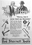 Click here to enlarge image and see more about item AD0527E1: 1927 STARRETT TOOL Ad L@@K!