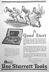 Click here to enlarge image and see more about item AD0527F3: 1926 STARRETT TOOL Ad L@@K!