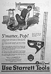Click here to enlarge image and see more about item AD0527G2: 1926 STARRETT TOOL Ad L@@K!