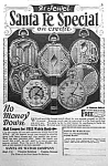 Click here to enlarge image and see more about item AD0527H1: 1926 SANTA FE Illinois Pocket Watch Ad