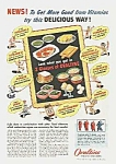 Click here to enlarge image and see more about item AD0614AA2: 1944 Chocolate OVALTINE-SCHOOL THEME Ad