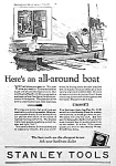 Click here to enlarge image and see more about item AD0620B6: 1927 STANLEY CHEST OF TOOLS Ad