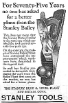 Click here to enlarge image and see more about item AD0620E6: 1929 Stanley Tools WOOD PLANE Ad L@@K