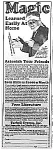 Click here to enlarge image and see more about item AD0620F1: 1929 LEARN MAGIC Tarbell Ad