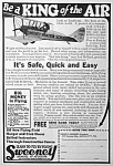 Click here to enlarge image and see more about item AD0621C5: 1927 Sweeney School/Aviation LEARN TO FLY Ad