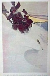 Click here to enlarge image and see more about item AD0625F5: 1906 N.C. WYETH Snow Print