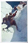 Click here to enlarge image and see more about item AD0625F6: 1906 N.C. WYETH Snow Print