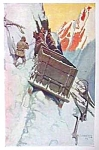 Click here to enlarge image and see more about item AD0625F7: 1906 N.C. WYETH Snow Print