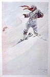 Click here to enlarge image and see more about item AD0625F8: 1906 N.C. WYETH Snow Print