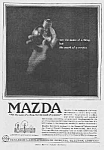 Click here to enlarge image and see more about item AD0628AA4: Wonderful 1918 ART DECO Mazda Light Bulb Ad