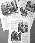 1928 MAGIC TUMBLER TRICKS Mag. Article