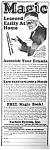 Click here to enlarge image and see more about item AD0701V6: 1928 LEARN MAGIC Ad Tarbell Systems