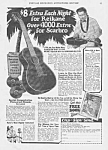 Click here to enlarge image and see more about item AD0701W1: 1928 HAWAIIAN GUITAR Music Room Ad