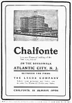 1905 CHALFONTE HOTEL Atlantic City, N.J. Ad