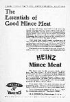 Click here to enlarge image and see more about item AD0704H6: Cool 1905 HEINZ Mince Meat Ad!