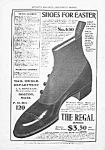 Great 1902 Button-Top REGAL SHOE Mag. Ad