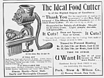Click here to enlarge image and see more about item AD0704L9: 1902 Antique FOOD GRINDER Kitchen Ad