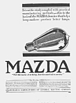 Click here to enlarge image and see more about item AD0705A3: Gorgeous 1917 ART DECO Mazda Light Bulb Ad
