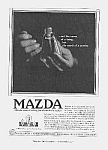 Click here to enlarge image and see more about item AD0705A8: Gorgeous 1918 ART DECO Mazda Light Bulb Ad