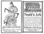 Click here to enlarge image and see more about item AD0708A7: 1895 SEWING THREAD Company Ads