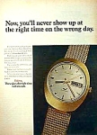 Click here to enlarge image and see more about item AD0713A3: Groovy 1970 BULOVA WATCH Magazine Ad