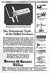 Click here to enlarge image and see more about item AD0728B8: 1928 BROWN & SHARPE Tool Ad/DIE MAKERS SQ