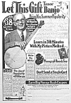 Click here to enlarge image and see more about item AD0809C6: 1924 TENOR BANJO Music Room Ad