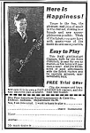 Click here to enlarge image and see more about item AD0831A6: 1928 CLARINET MUSIC ROOM Ad L@@K!