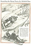 Click here to enlarge image and see more about item AD0903B8: 1932 BOBSLEDDING Illustrative Mag. Article