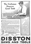 Click here to enlarge image and see more about item AD0910C4: 1917 DISSTON Saw - Tool Ad