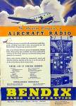 Click here to enlarge image and see more about item AD1004A7: NICE 1937 BENDIX AIRCRAFT RADIO Aviation Ad